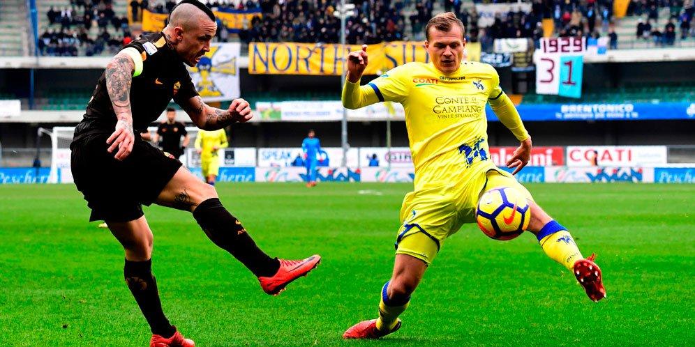 Laporan Pertandingan Chievo VS AS Roma Ditahan Imbang