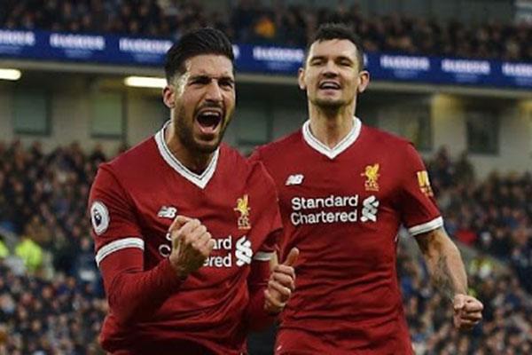 Brighton & Hove Albion Dicukur 1 - 5 Oleh Liverpool