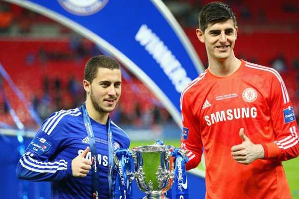 Chelsea Khawatirkan Masa Depan Eden Hazard dan Thibaut Courtois